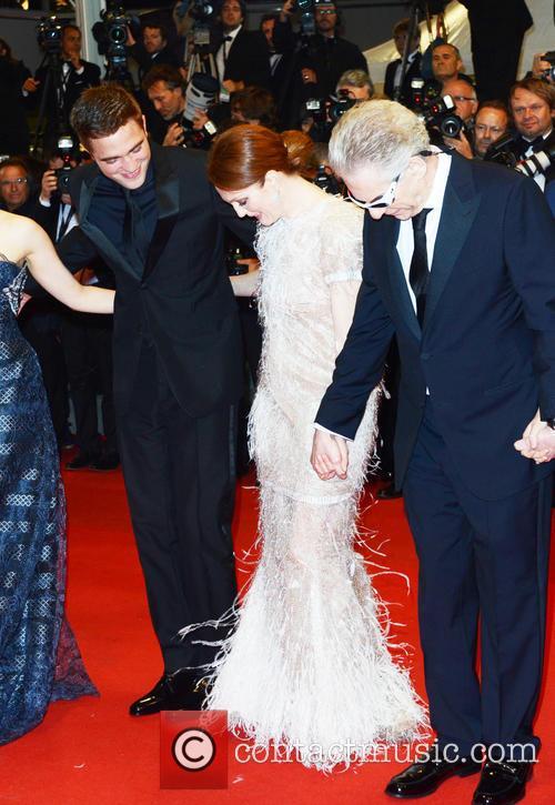 Robert Pattinson, Julianne Moore and David Cronemberg 2