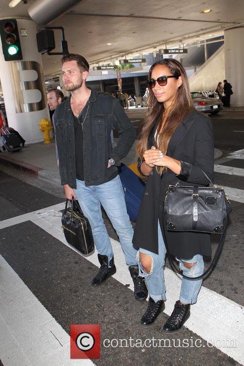 Leona Lewis arrives at Los Angeles International (LAX)...