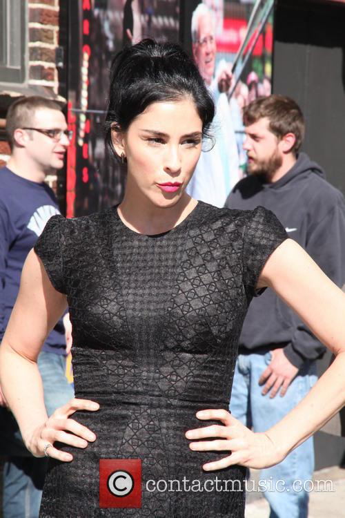 sarah silverman celebrities at the late show 4206590