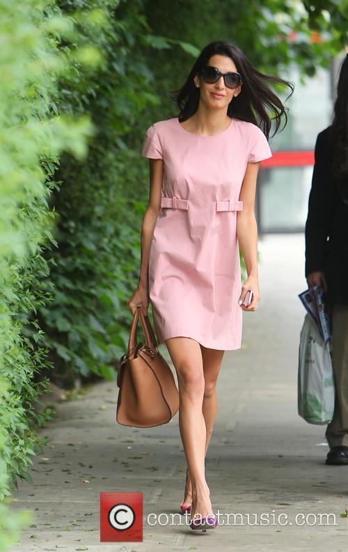 Alam Alamuddin pink dress