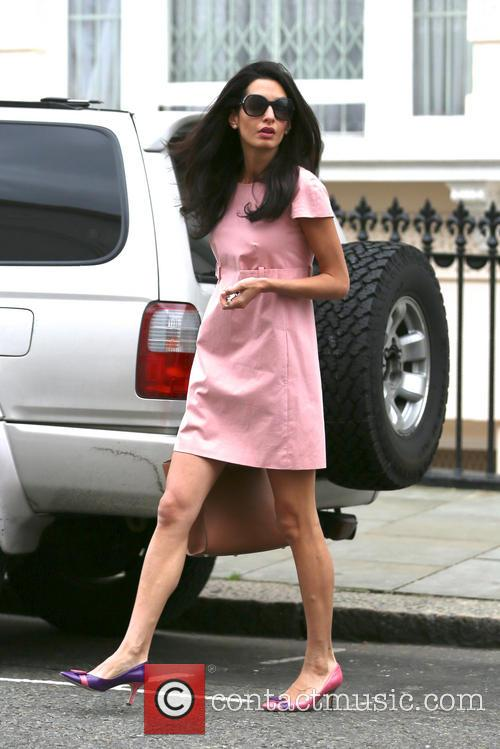 Amal walks out in Notting Hill