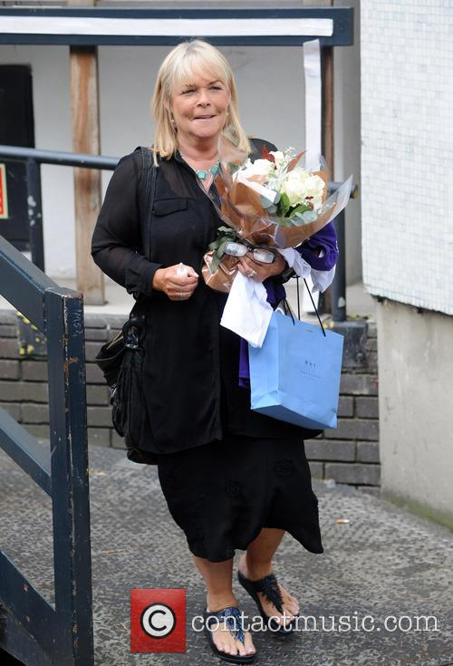 Linda Robson pictured at the ITV Studios