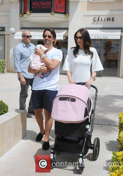 Tamara Ecclestone and family out and about in...