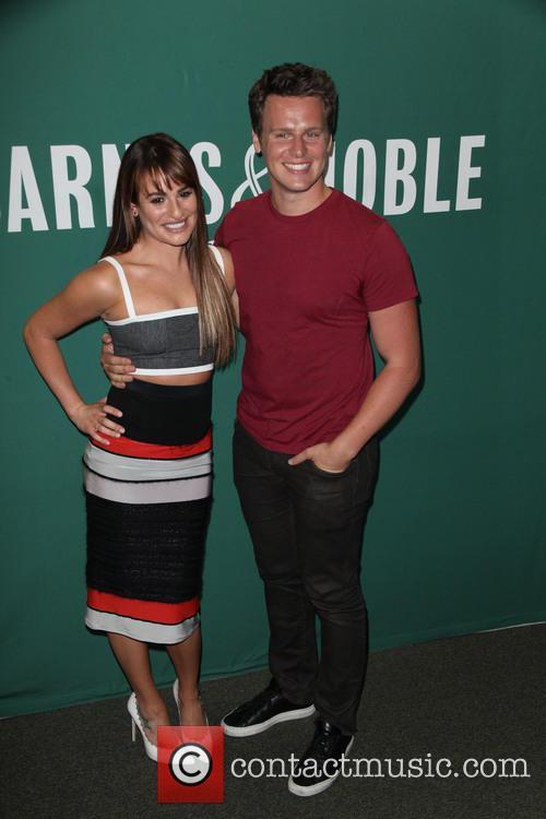Lea Michele and Jonathan Groff 1