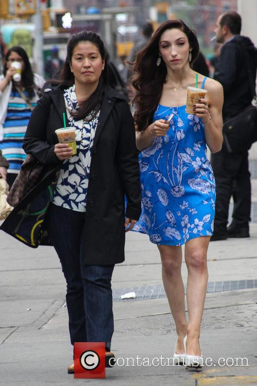 Meryl Davis out and about in New York...