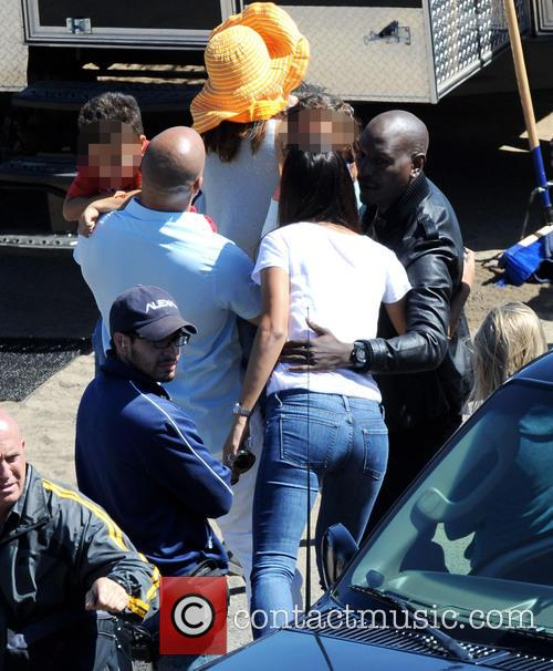 Vin Diesel, Tyrese Gibson, Paloma Jimenez, Hania and Vincent 8