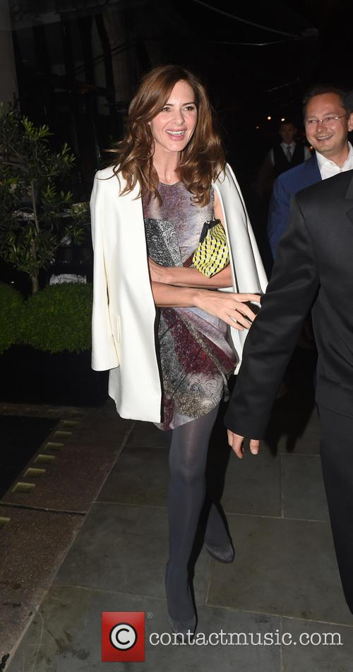 Charles Saatchi and Trinny Woodall leaving Scott's