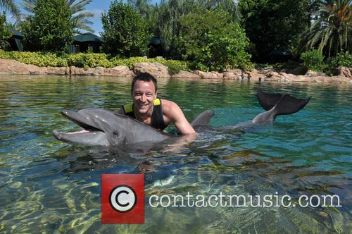 John Terry Visits Discovery Cove