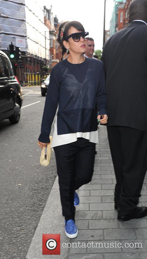 Lily Allen heads for the Ivor Novello Awards...