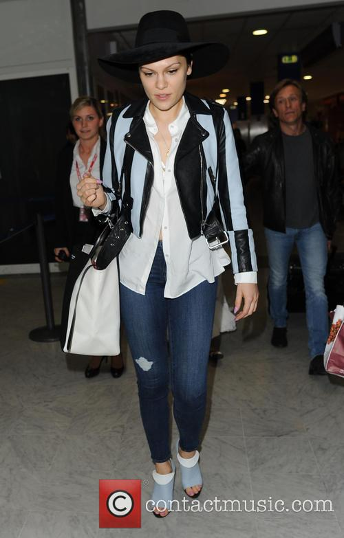 Jessie J arriving in Nice Airport