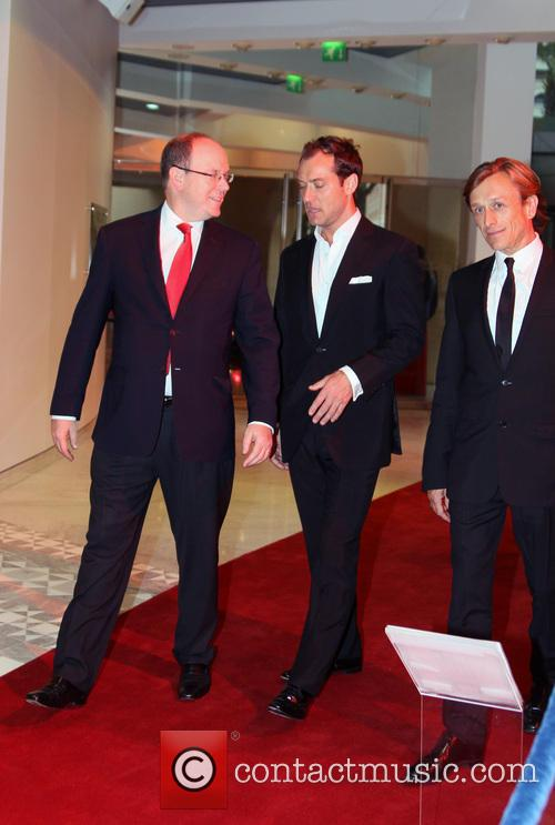 Jeremy Gilley, Jude Law and Prince Albert Ii Of Monaco