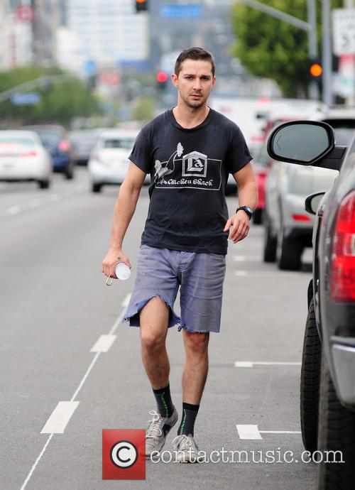Shia LaBeouf Dressed Down In West Hollywood