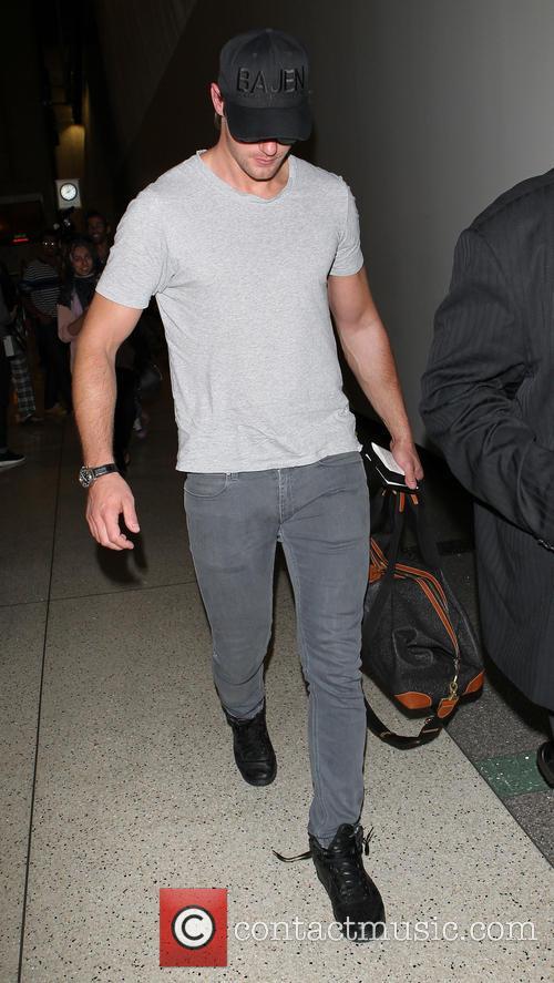 Alexander Skarsgard arrives at Los Angeles International (LAX)...