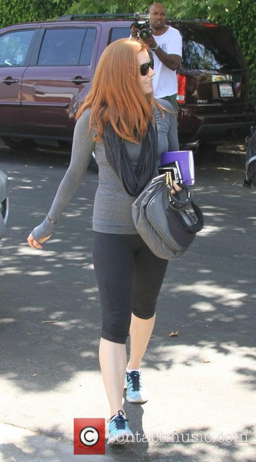 Amy Adams spotted outside King's Road Cafe