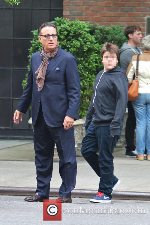 Andy Garcia and family exits The Bowery Hotel