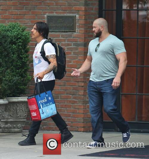 Anthony Kiedis exits The Bowery Hotel