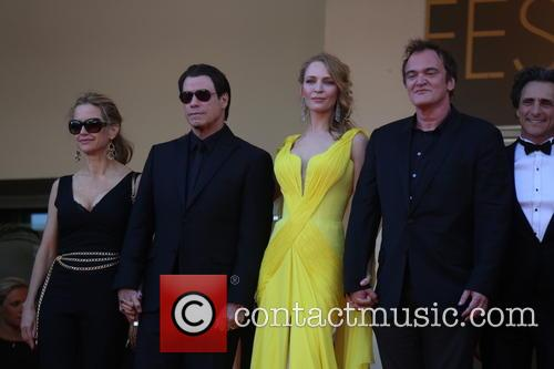 Kelly Preston (l-r), John Travolta, Uma Thurman and Director Quenti 2