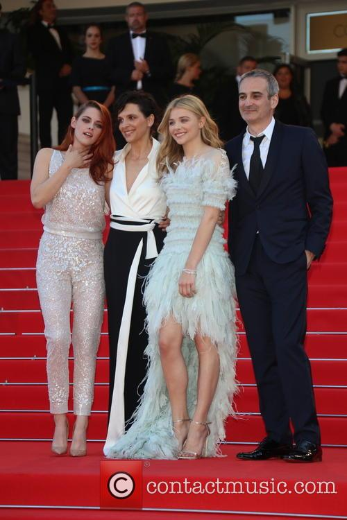 Kristen Stewart (l-r), Juliette Binoche and Chloe Grace Moretz and 2