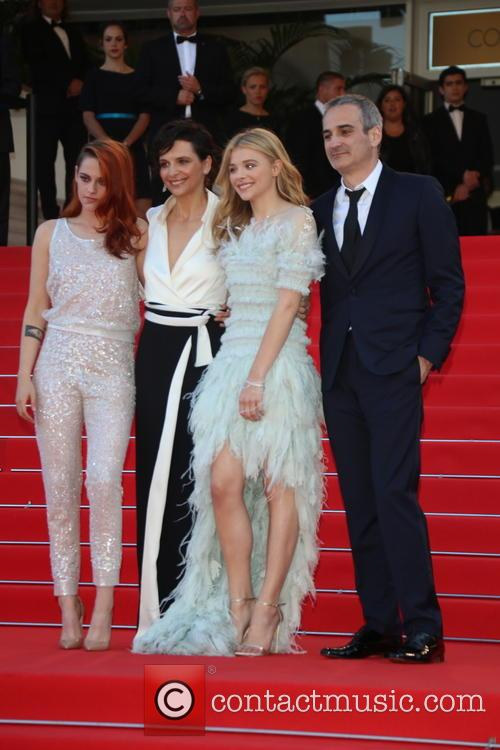 Kristen Stewart (l-r), Juliette Binoche and Chloe Grace Moretz and 1