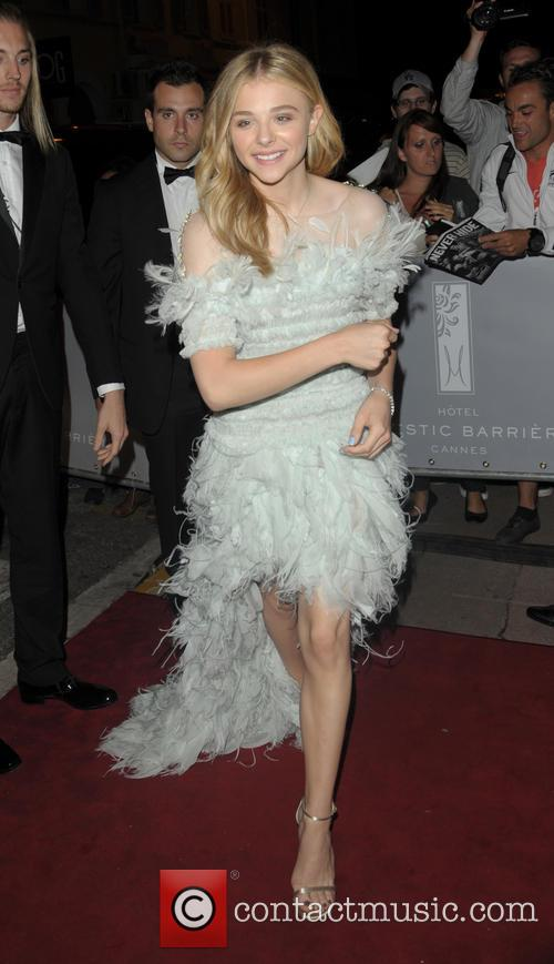 Chloe Moretz arriving at the Majestic Barriere hotel