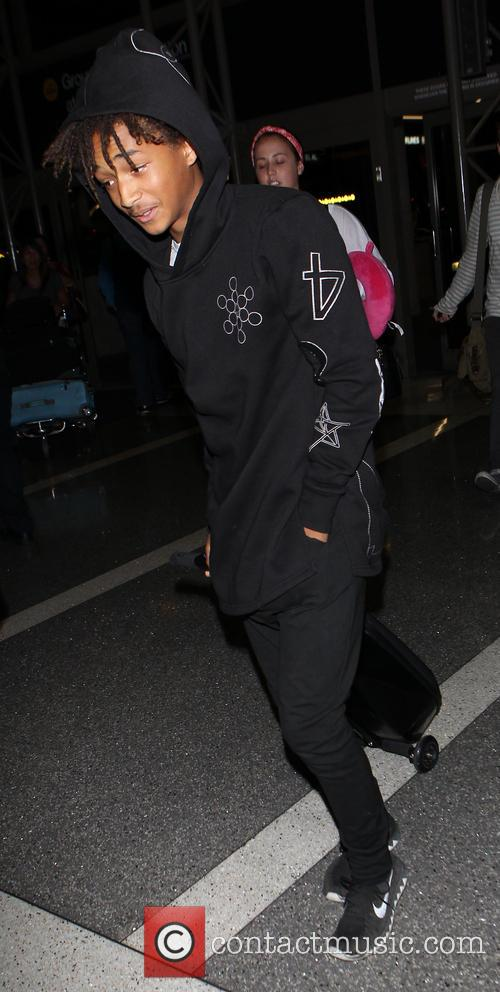 Jaden Smith arrives at Los Angeles International (LAX)...
