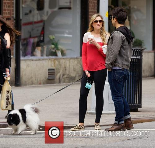 Katrina Bowden spotted out in the East Village