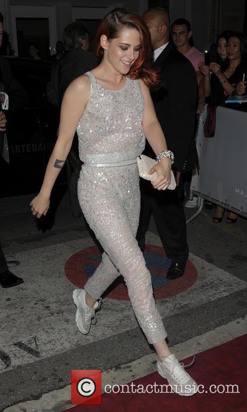 Kristen Stewart arriving at the Majestic Barriere hotel