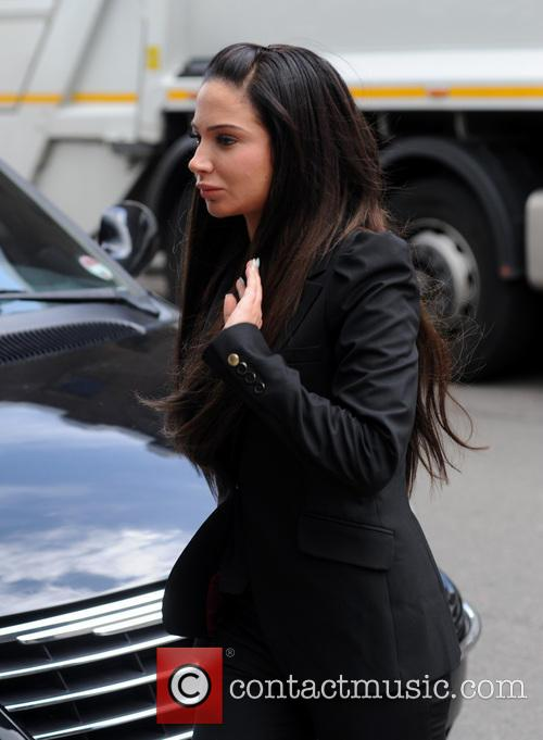 Tulisa arrives at Chelmsford Crown Court