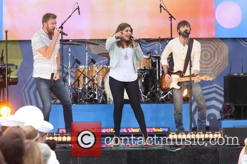 Lady Antebellum, L to R, Charles Kelley, Hillary Scott and Dave Haywood 7