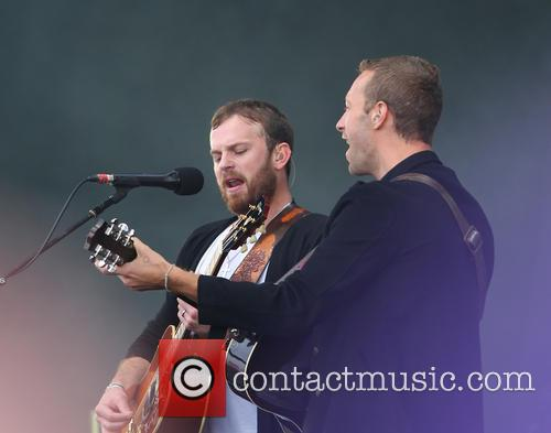 Caleb Followill and Chris Martin