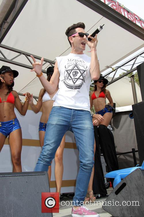 Gabe Saporta of Cobra Starship hosts and performs...