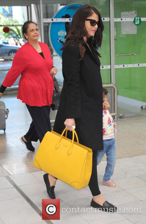Aishwarya Rai arrives at Nice Côte d'Azur International...