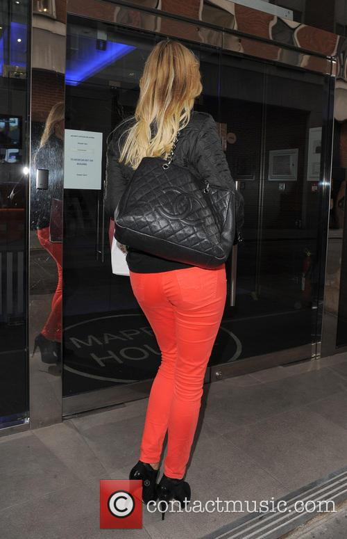 Denise Van Outen arrives at Magic FM