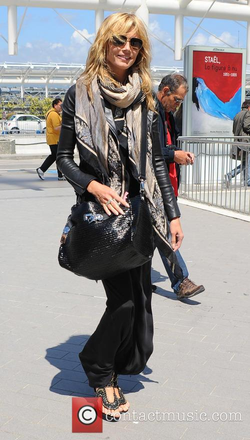 Heidi Klum arrives at Nice airport