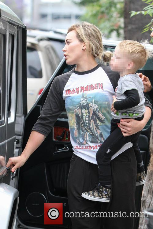 Hilary Duff takes her son out to breakfast