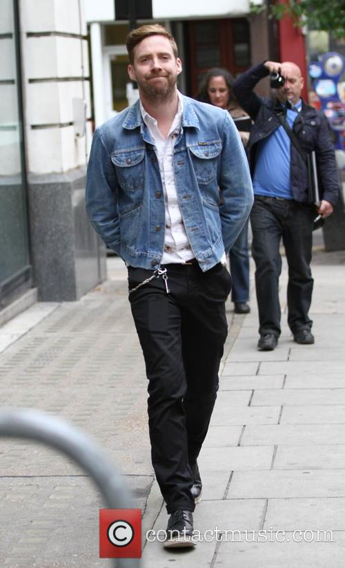 Ricky Wilson arriving at Radio 2