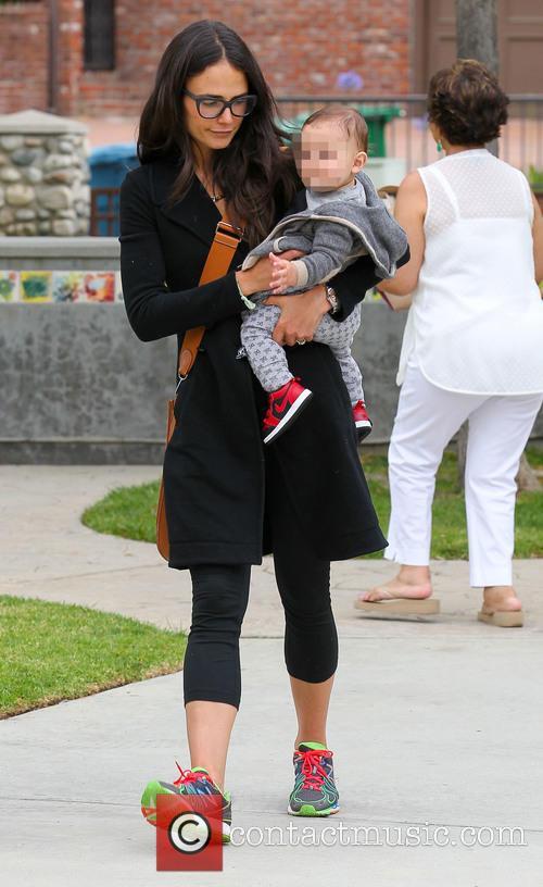 Jaime King and Jordana Brewster take their children...