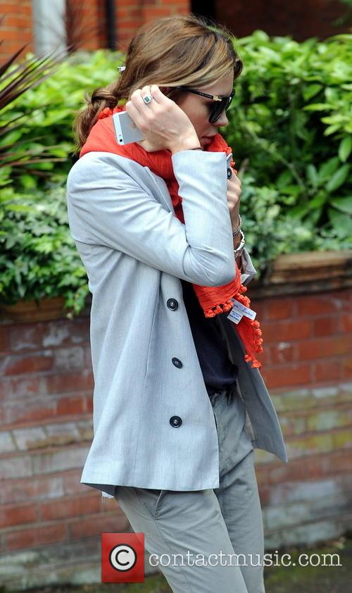 Abbey Clancy and Peter Crouch leave their home