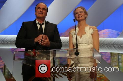 Quentin Tarantino (l) and Uma Thurman 2