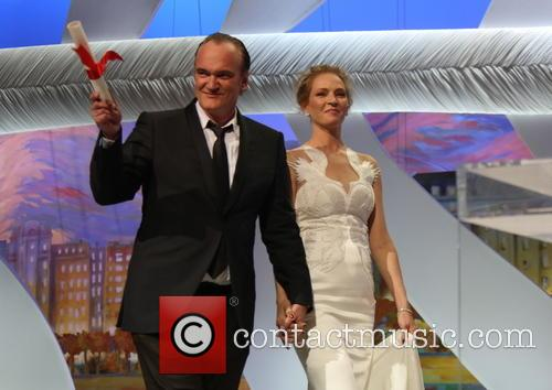 Quentin Tarantino (l) and Uma Thurman 1