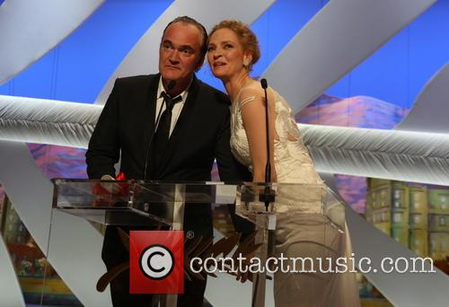 Quentin Tarantino (l) and Uma Thurman 3