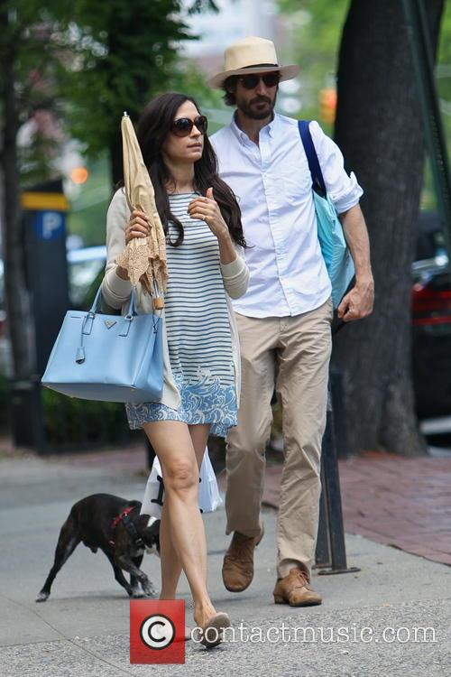 Famke Janssen and Cole Frates 6