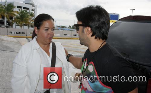 Latin singer Luis Fonsi arrives at an airport...