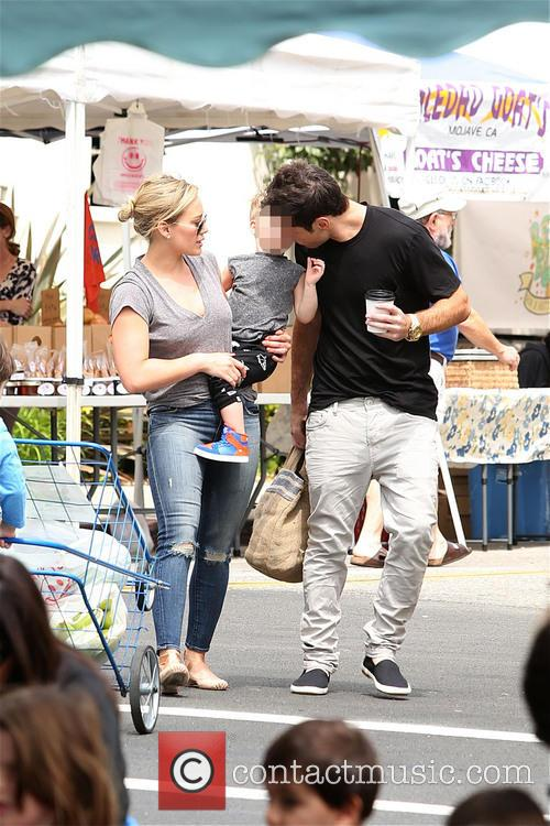 Hilary Duff and family at the Farmers Market