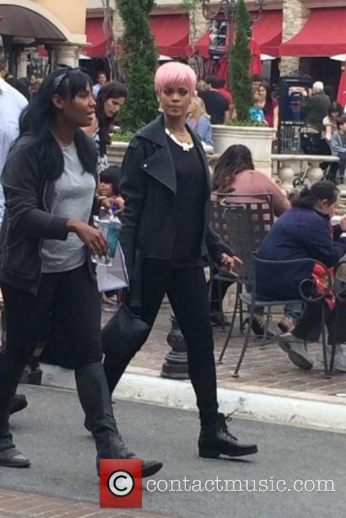 Rihanna shopping at The Grove