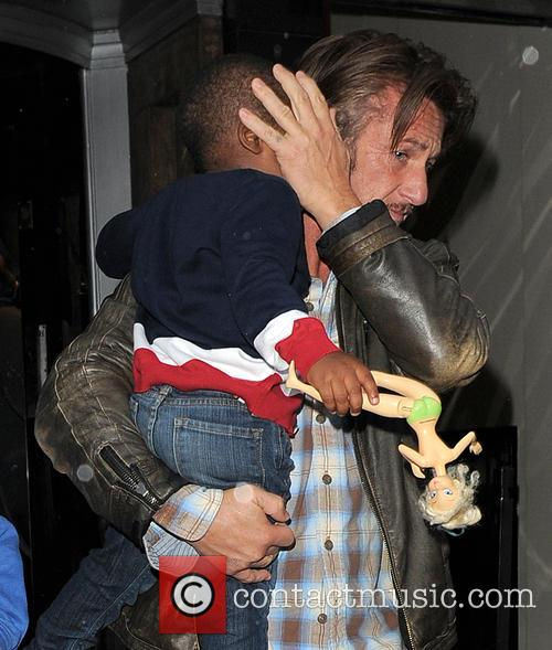 Sean Penn and Jackson Theron 1