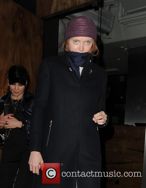 Lily Cole Leaves Roka Restaurant