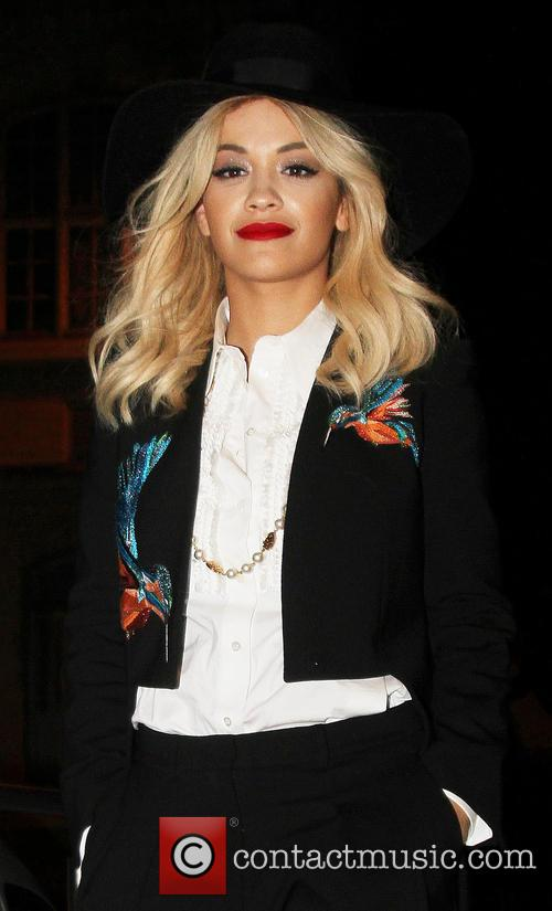 Rita Ora visits NRJ Radio