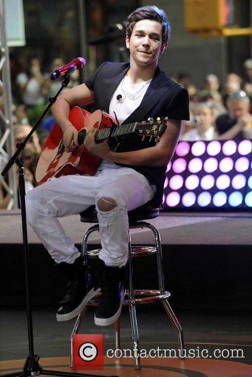 Austin Mahone performing on the 'Today' show as part of NBC's Toyota Concert Series