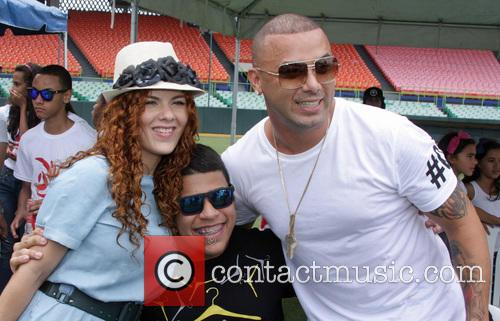 Wisin At Charity Football Match